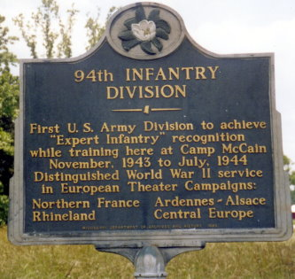 94th infantry division camp mccain